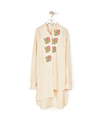 LOEWE Asymmetric Shirt Flower Emb 淡褐色 front