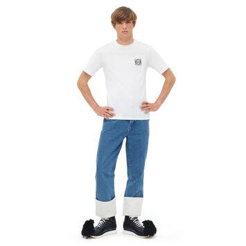 LOEWE Camiseta Anagram Blanco front