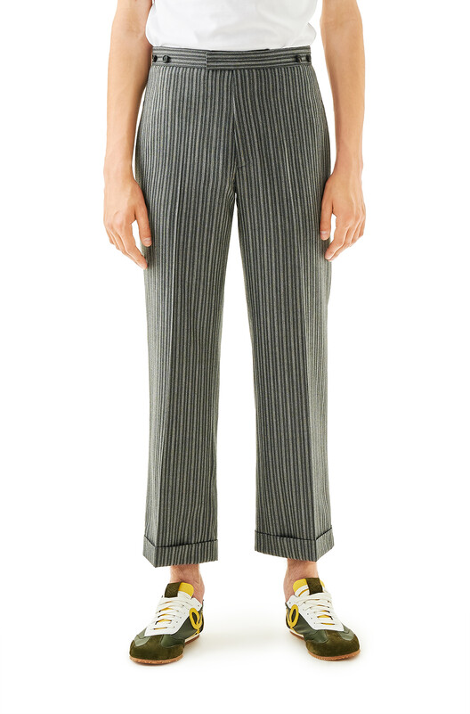 LOEWE Cuffed Pants Gris front