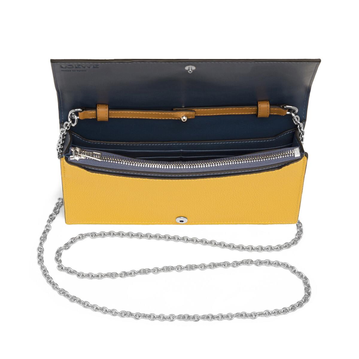 LOEWE Wallet On Chain Yellow Mango/Honey front