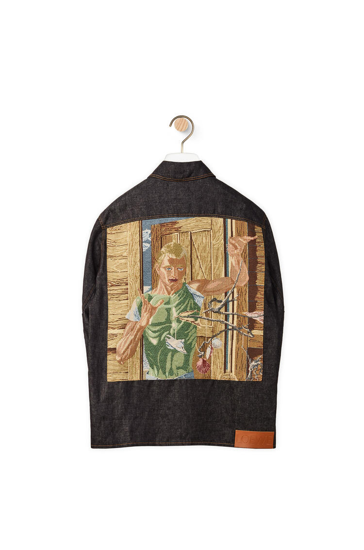 LOEWE Tapestry panel overshirt in cotton Black pdp_rd