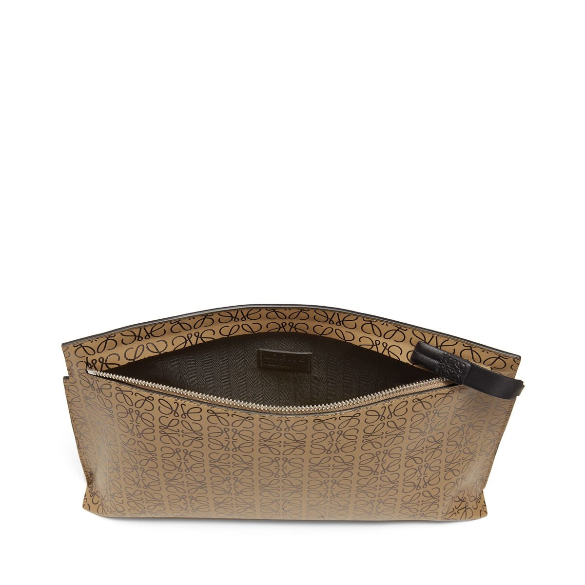 LOEWE T Pouch Repeat Mocca/Negro all