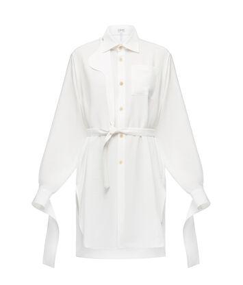 LOEWE ストラップオーバーサイズシャツ ホワイト front