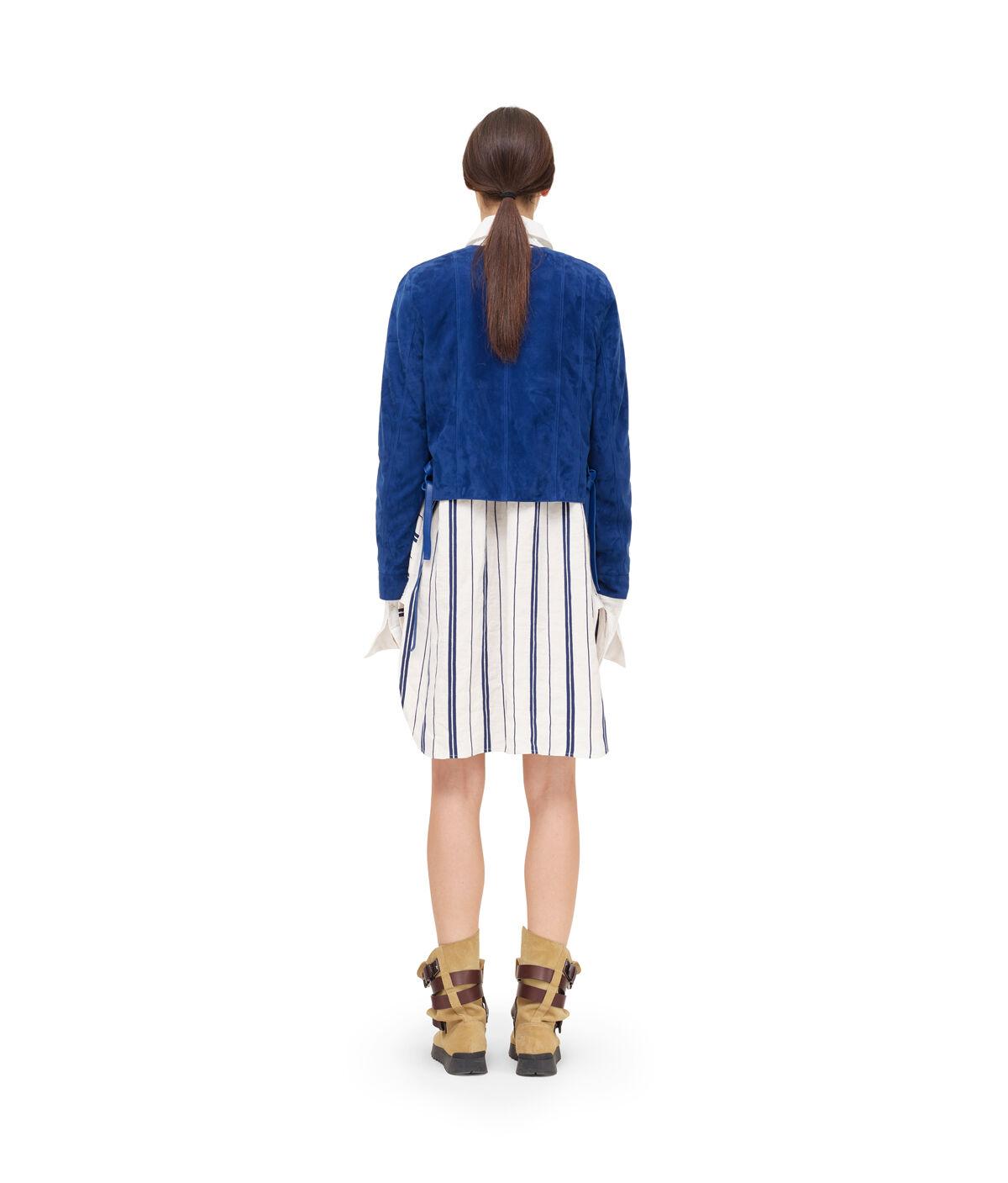 LOEWE Short Jacket Dark Royal Blue front