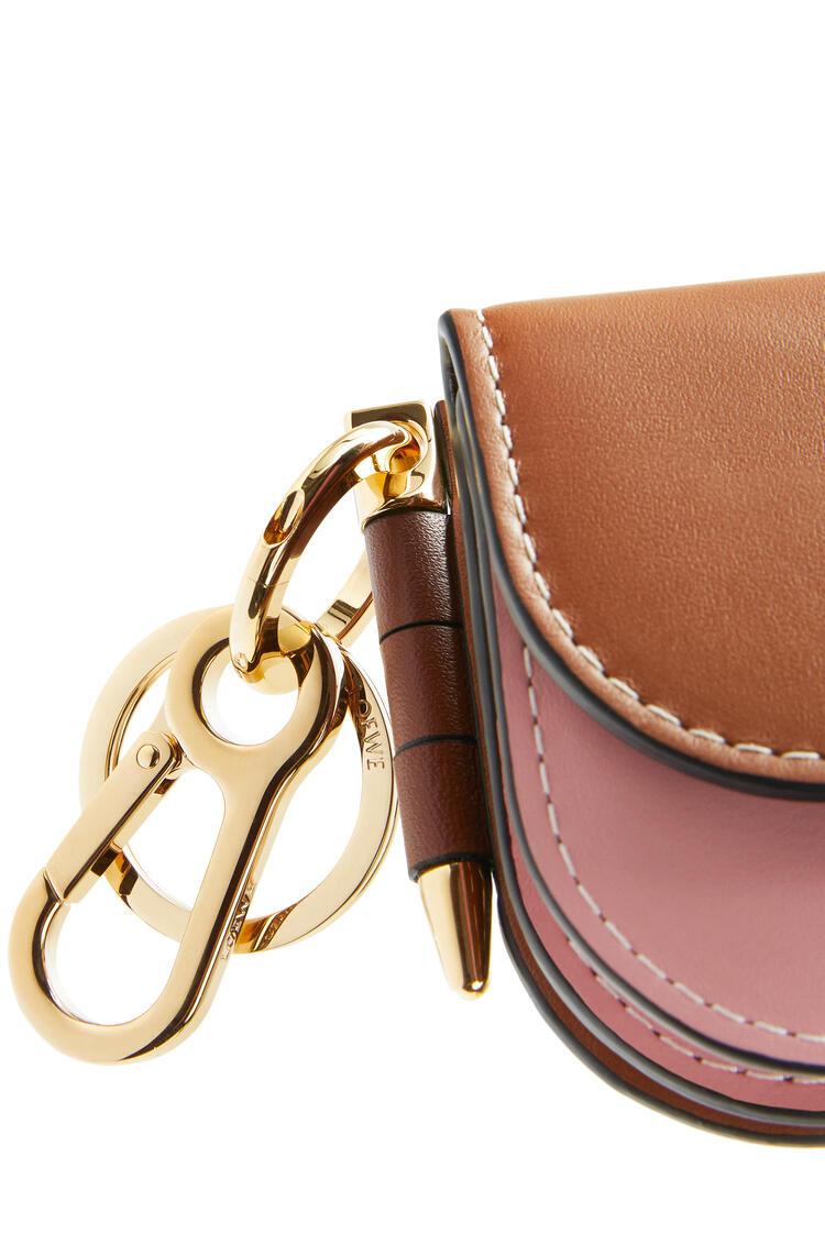 LOEWE Mini Gate wallet in smooth calfskin Tan/Medium Pink pdp_rd