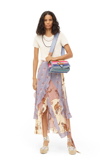 LOEWE Paula Print Wrap Skirt Ruffle Multicolor front