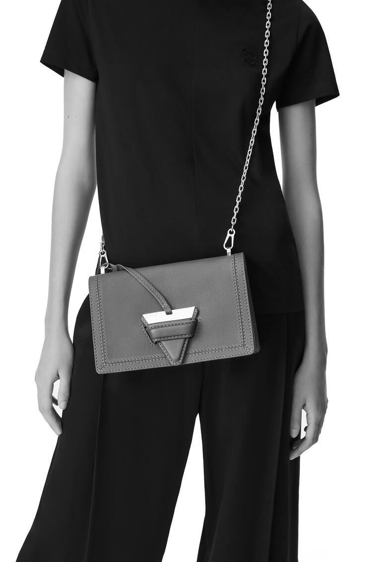 LOEWE Barcelona Bag In Soft Grained Calfskin Dark Taupe pdp_rd