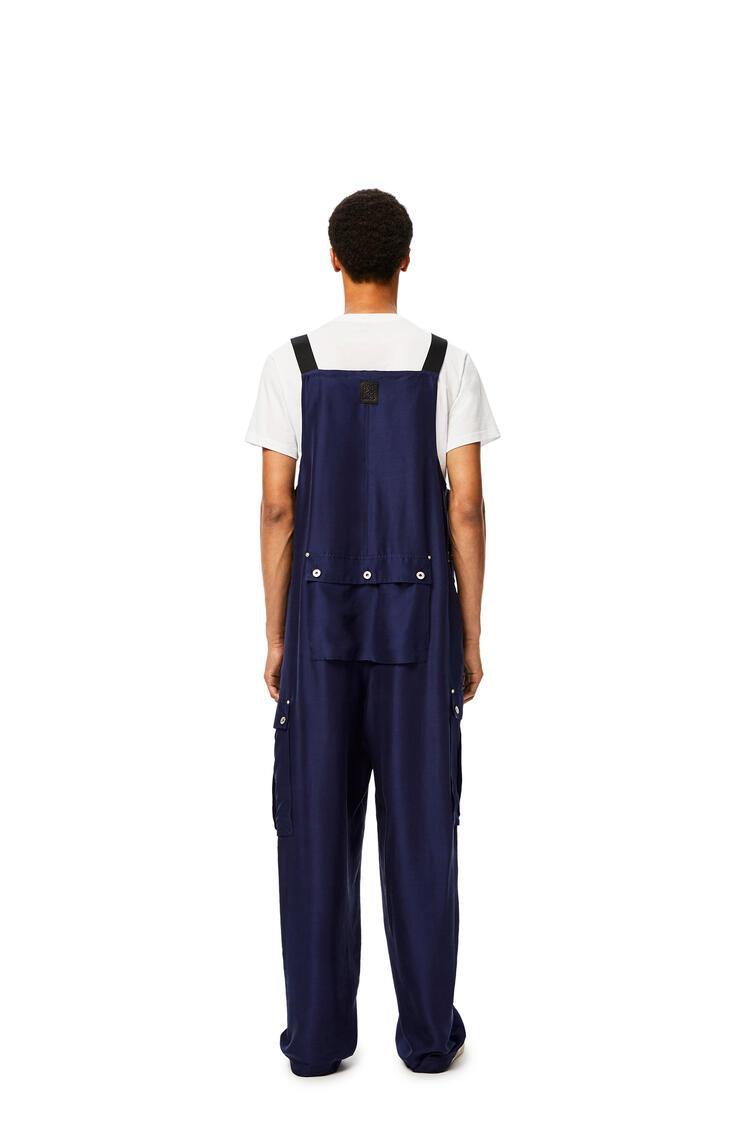 LOEWE Overalls In Silk Navy Blue pdp_rd
