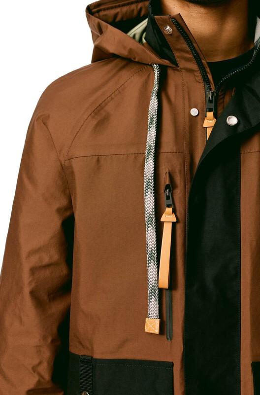 LOEWE Parka Black/Brown front