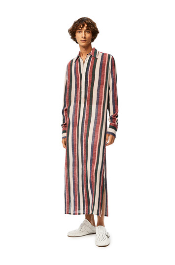 LOEWE Long Stripe Tunic Pink/Strawberry/Blue front