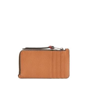 LOEWE Coin Cardholder Large Light Caramel/Pecan front