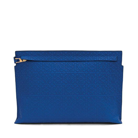 LOEWE T Pouch Repeat Electric Blue all