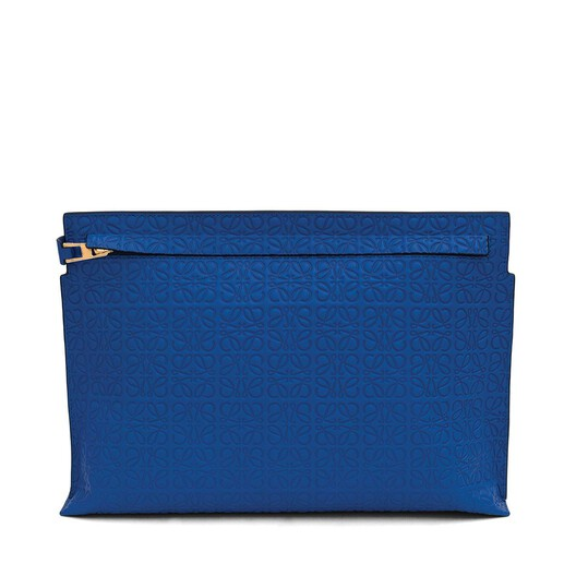 LOEWE T Pouch Electric Blue front