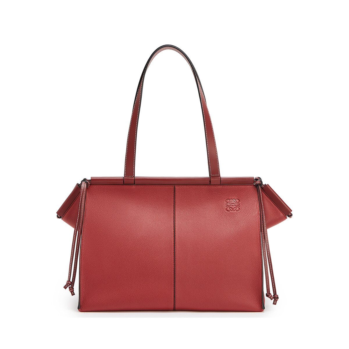 LOEWE Cushion Tote Bag Garnet front