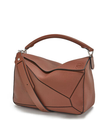 LOEWE Large Puzzle bag in soft grained calfskin Cognac pdp_rd