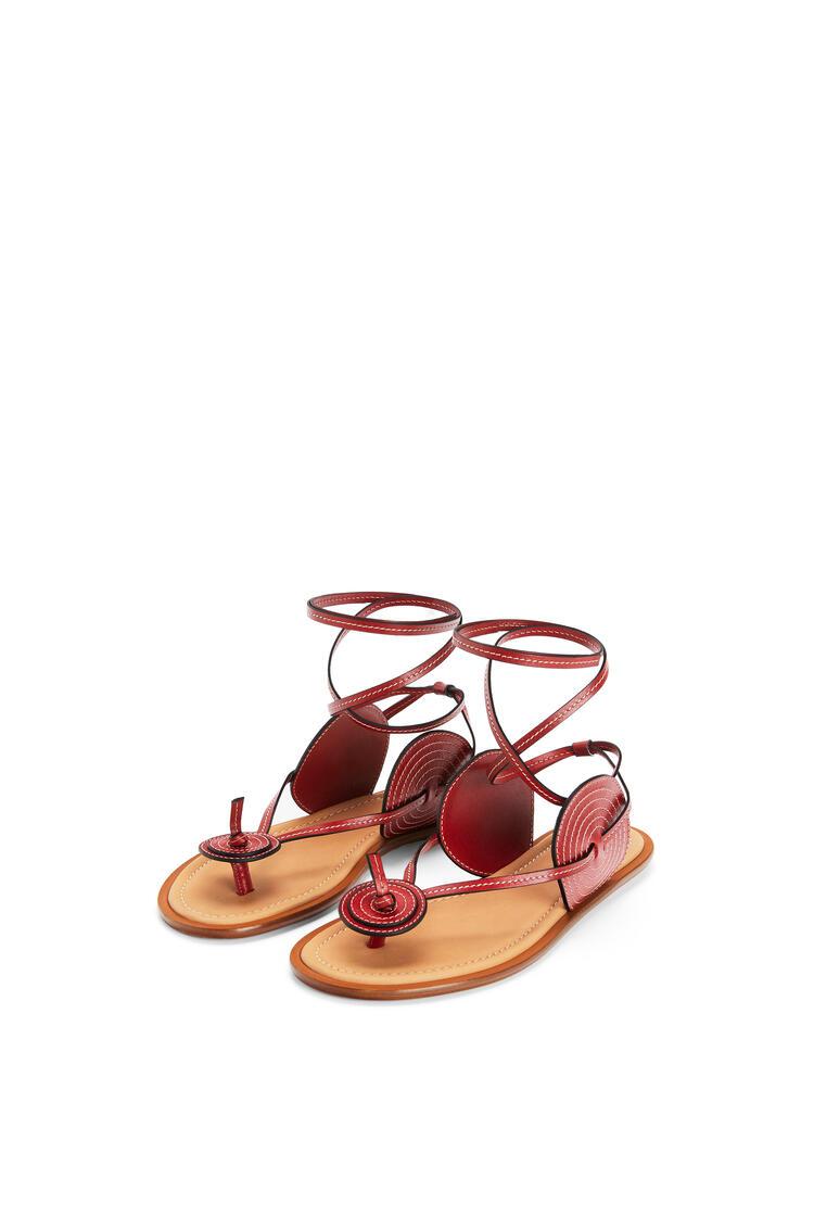 LOEWE Disc sandal in calfskin Red pdp_rd