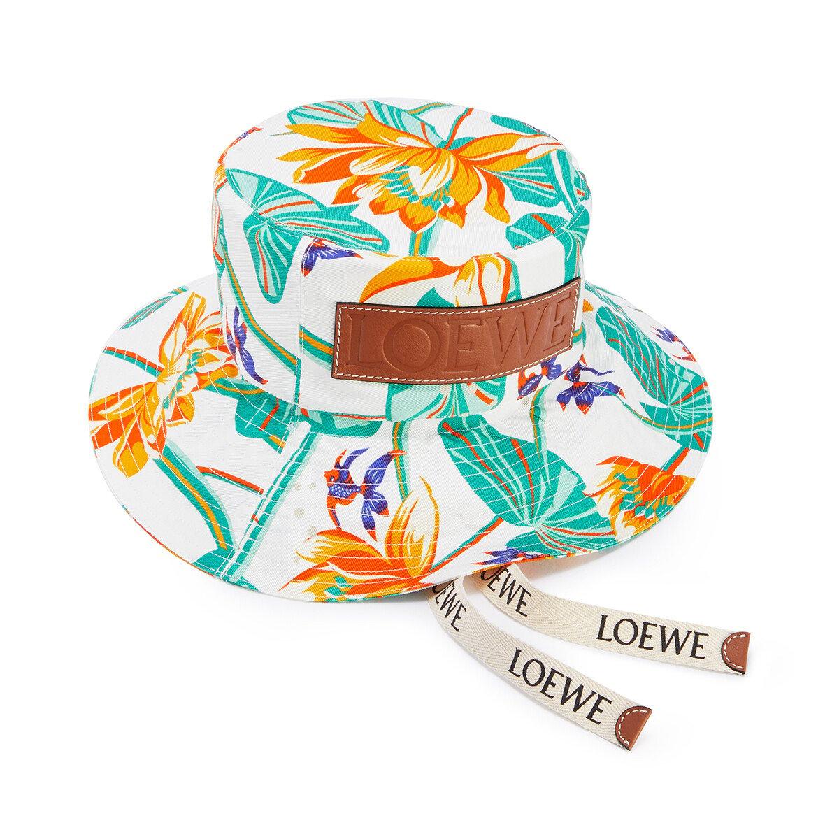 LOEWE 睡莲帆布渔夫帽 白色 front