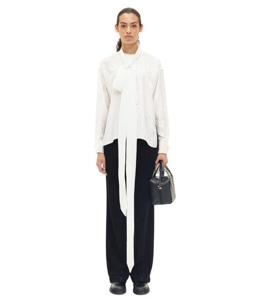 LOEWE Lavaliere Tunic Blouse Blanco/Marfil all