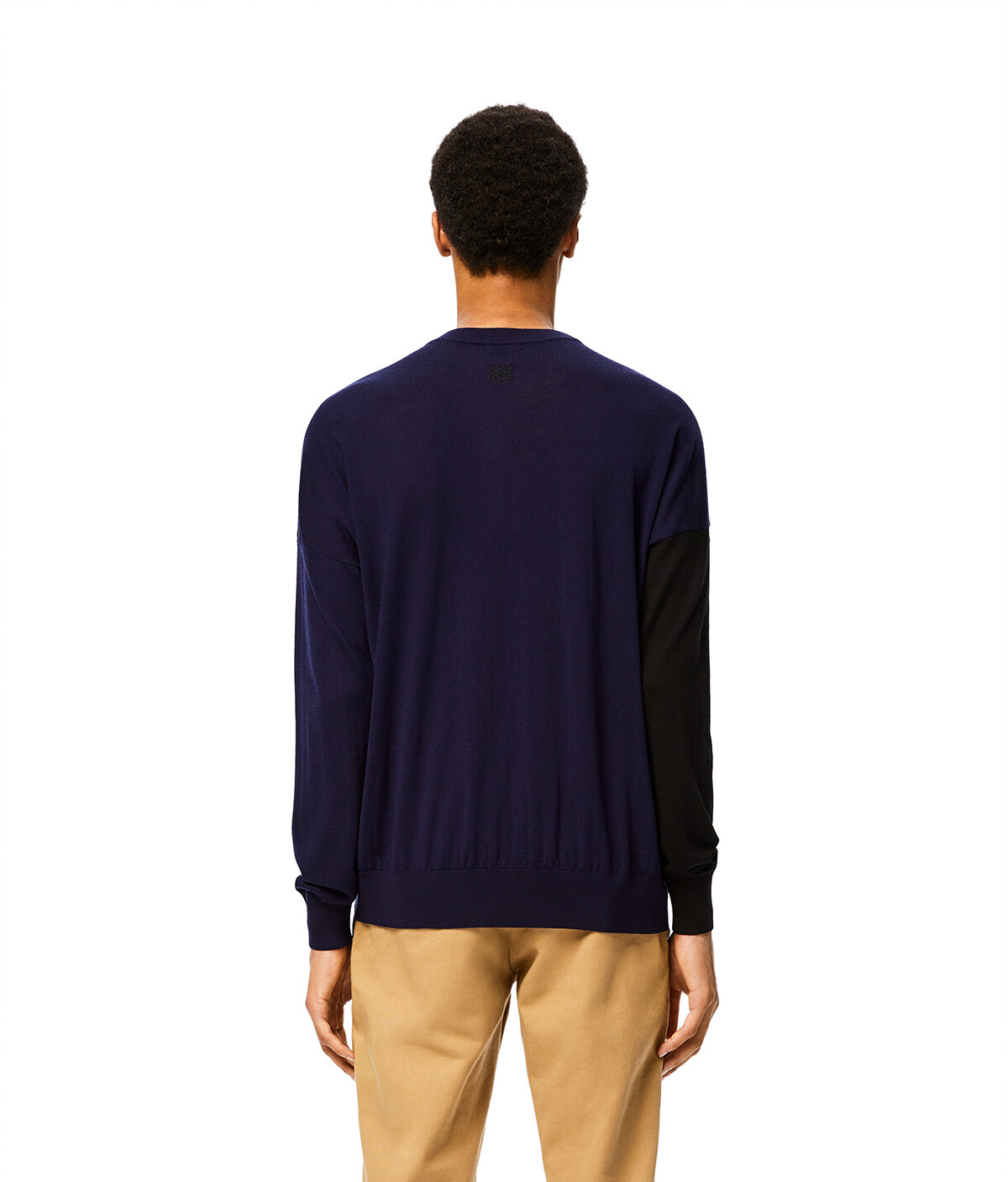 LOEWE Asymmetric Cardigan Black/Navy Blue front