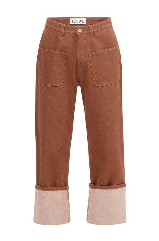 Brown Denim Trouser