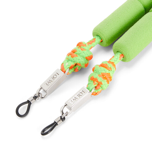 LOEWE Floaters Sunglasses Strap In Foam And Cord Neon Green front