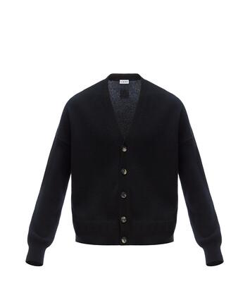 LOEWE Cropped Cardigan Negro front