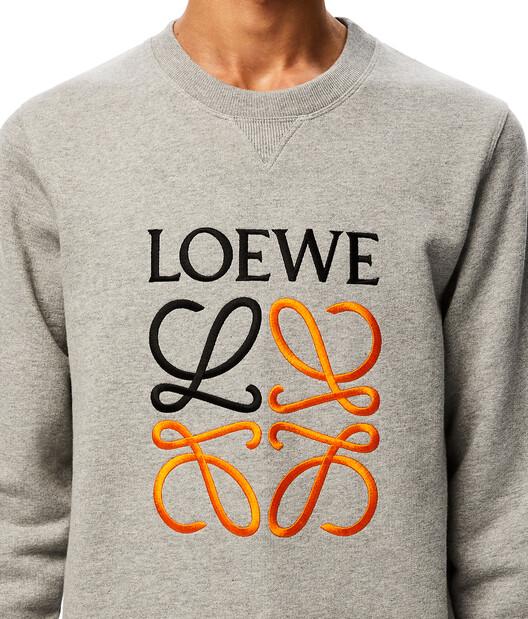 LOEWE Anagram Sweatshirt Grey Melange front