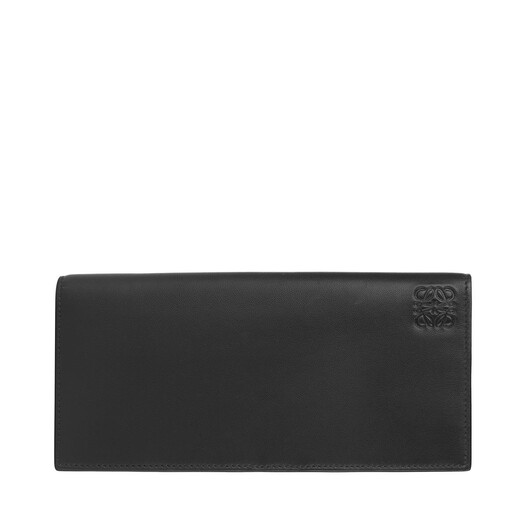 LOEWE Long Horizontal Wallet Black/Khaki Green front
