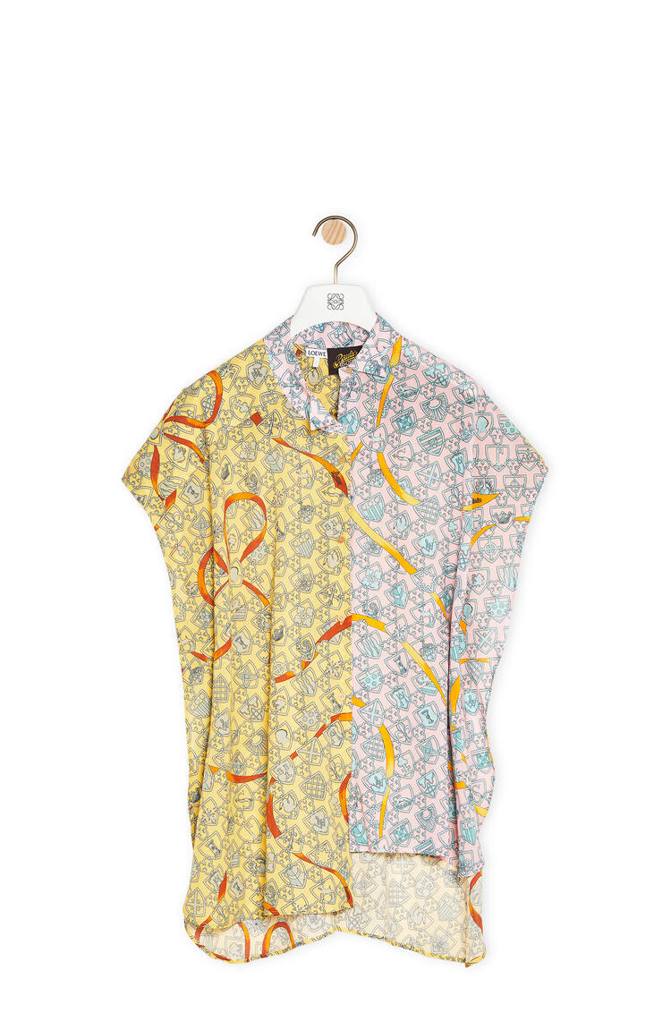 LOEWE アシンメトリー オーバーサイズ シャツ (シールドコットン) Pink/Yellow pdp_rd