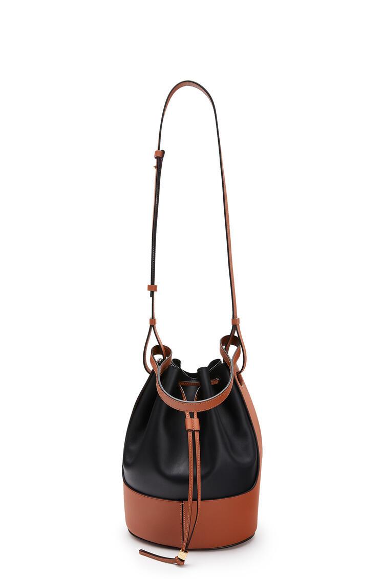 LOEWE Balloon bag in nappa calfskin Black/Tan pdp_rd