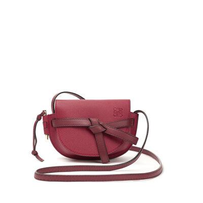LOEWE Mini Gate Bag Raspberry/Wine front