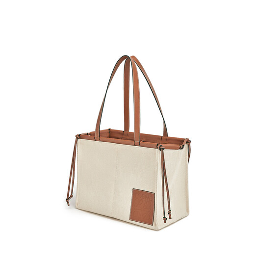 LOEWE Cushion Tote Small Bag Light Oat front