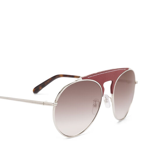 LOEWE Pilot Sunglasses Red/Gradient Brown front