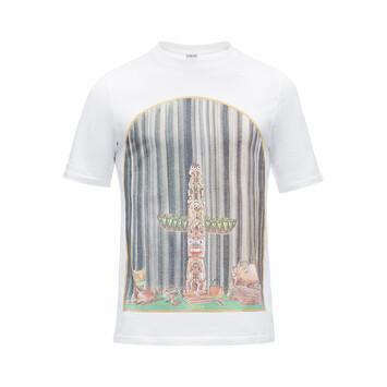 LOEWE T-Shirt Window Totem White front