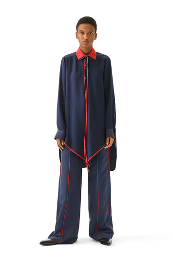 LOEWE Pointed Hem Shirt Navy/Red front