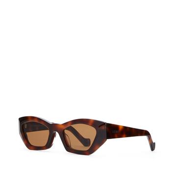 LOEWE Geometric Cateye Sunglasses Havana/Brown front