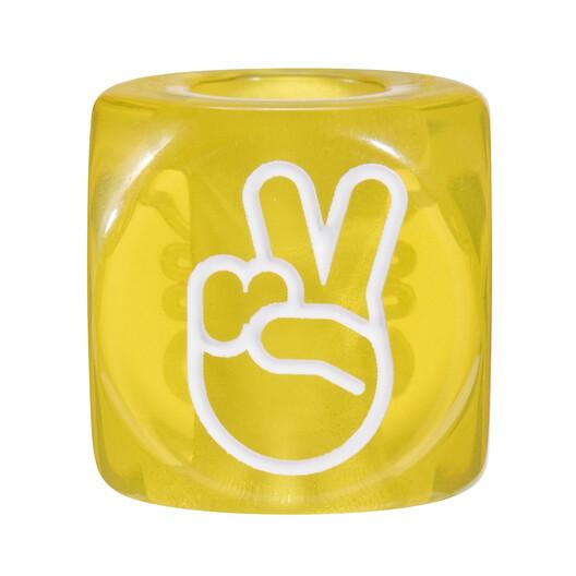 LOEWE 大号手势骰子 黄色 front