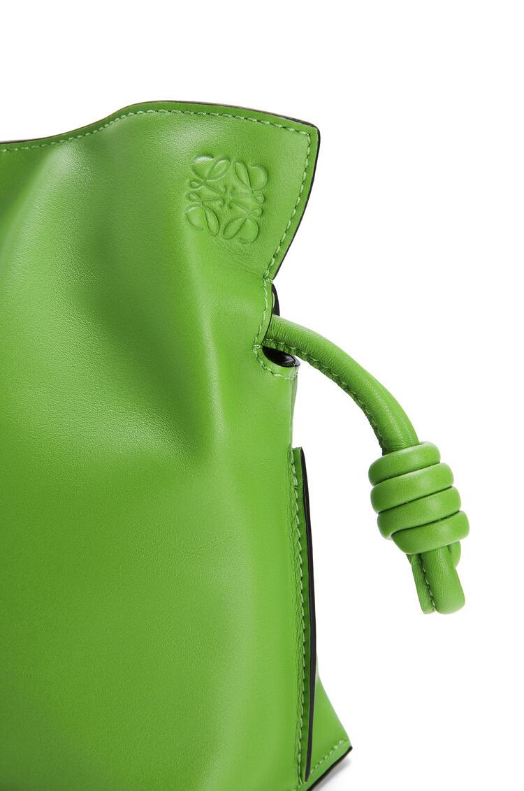 LOEWE Mini Flamenco clutch in nappa calfskin Apple Green pdp_rd