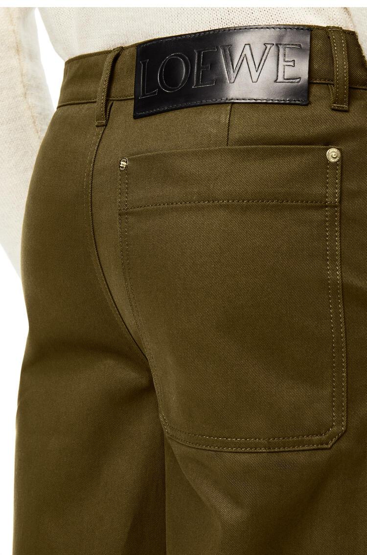 LOEWE Workwear trouser in cotton Khaki Green pdp_rd