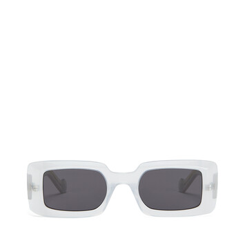 LOEWE Acetate Square Sunglasses White/Smoke front