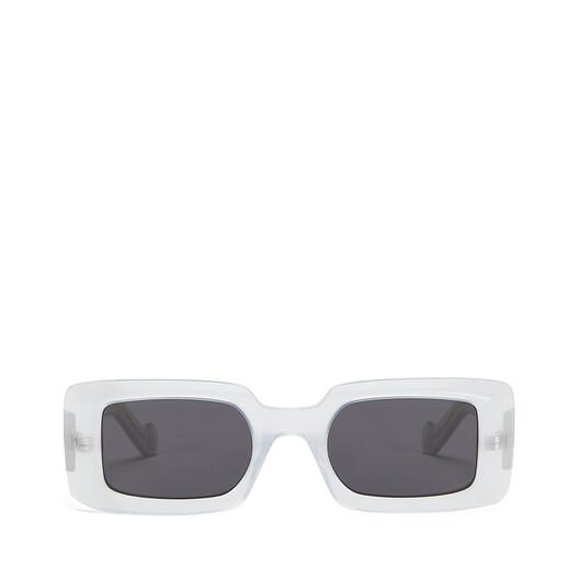 LOEWE Acetate Square Sunglasses White/Smoke front