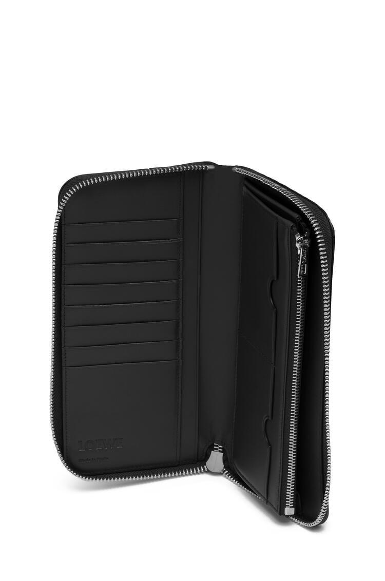 LOEWE Puzzle open wallet in calfskin 黑色 pdp_rd