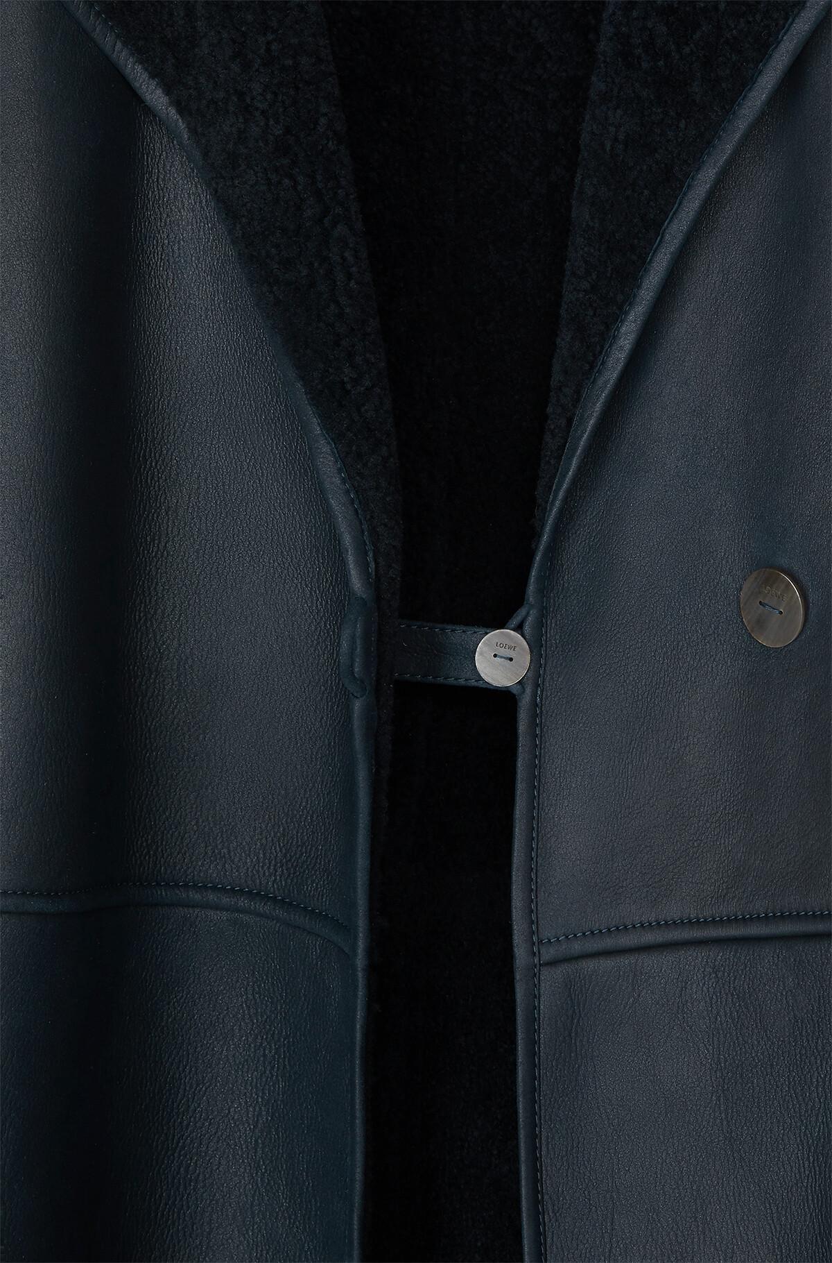 LOEWE Shearling Coat 海军蓝/海军蓝 front