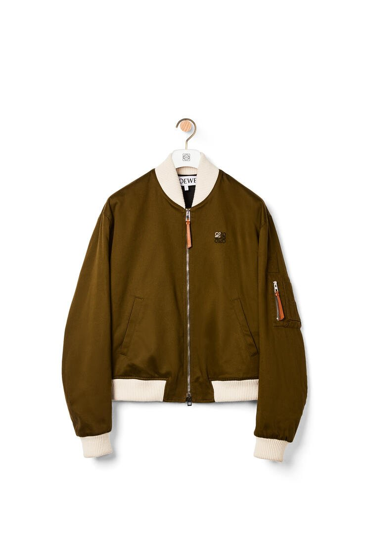 LOEWE Bomber jacket in cotton military green pdp_rd