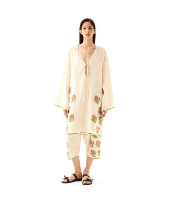 LOEWE Tunic Flower Embroideries Ecru front