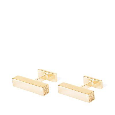 LOEWE Bar Cufflink Gold front