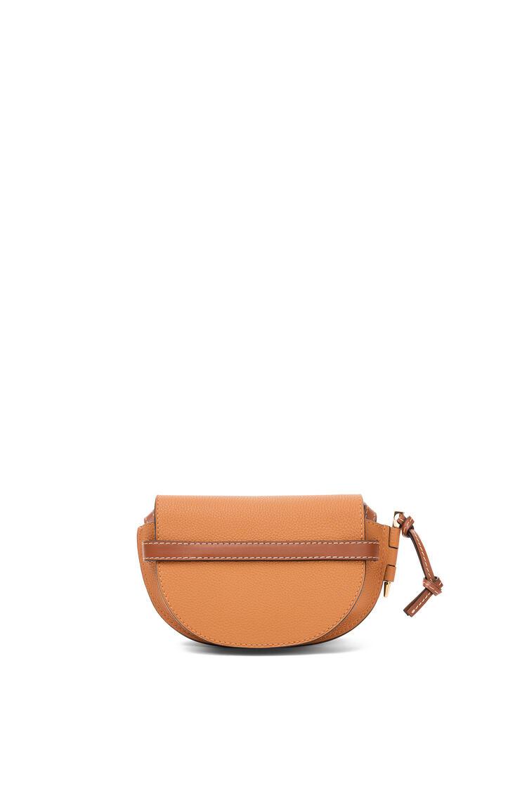 LOEWE Mini Gate bag in soft grained calfskin Light Caramel/Pecan pdp_rd
