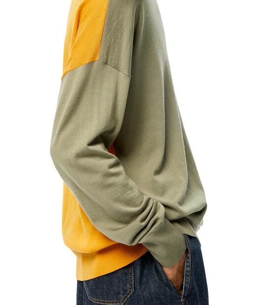 LOEWE Anagram Sweater Khaki Green/Orange front