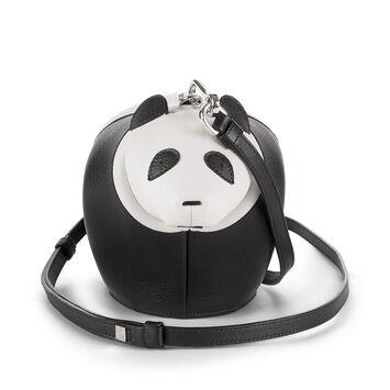 LOEWE Bolso Panda Mini Negro/Blanco front