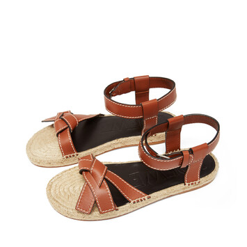 LOEWE Gate Sandal Rust Red front